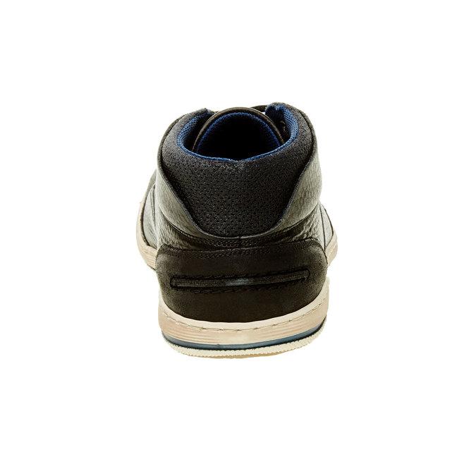 Kožené tenisky ke kotníkům bata, černá, 844-6620 - 17