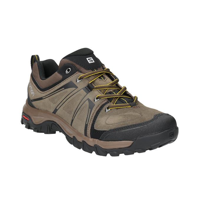 Pánská kožená obuv v Outdoor stylu salomon, hnědá, 843-4050 - 13