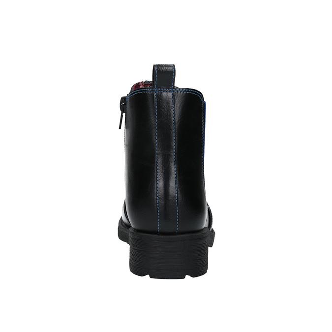 Dětská kotníčková obuv s pružným bokem mini-b, černá, 321-9602 - 17
