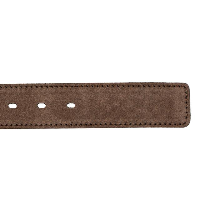 Opasek z broušené kůže bata, hnědá, 953-3106 - 16