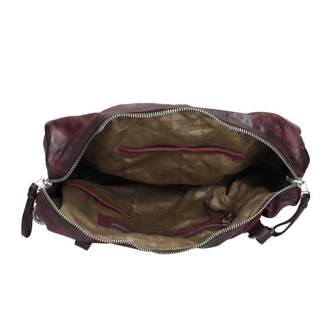 Kožená kabelka s kovovými detaily a-s-98, červená, 966-5020 - 15