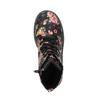Dívčí kotníčková obuv s květinovým vzorem mini-b, černá, 321-9600 - 19