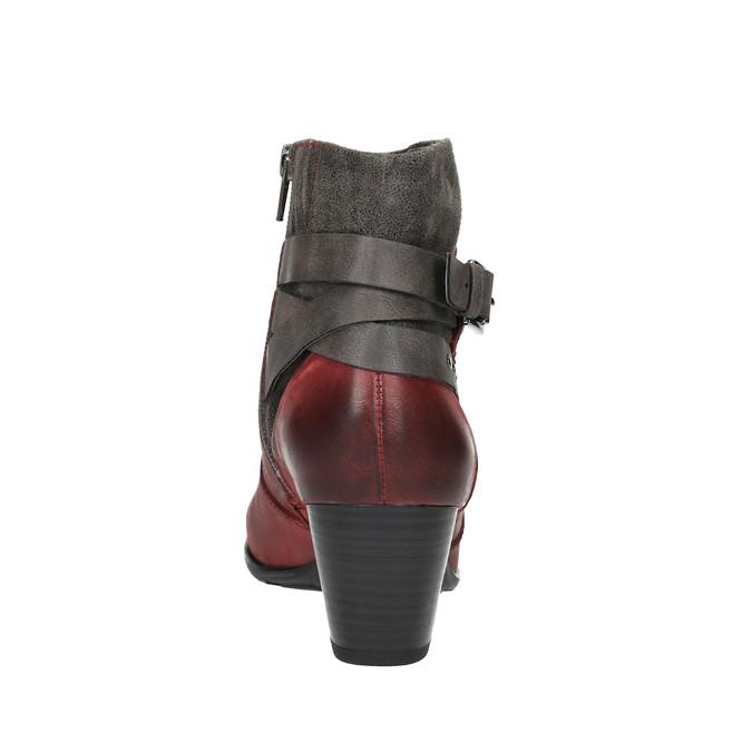 Dámská kotníčková obuv se zateplením bata, červená, 696-5617 - 17