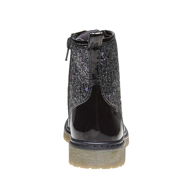 Dětská kotníčková obuv se třpytkami mini-b, černá, 399-6253 - 17