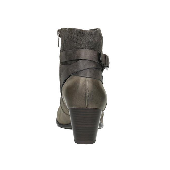 Dámská kotníčková obuv bata, šedá, 696-2617 - 17