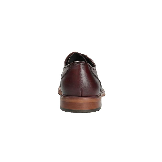 Vínové kožené polobotky bata, červená, 826-5645 - 17