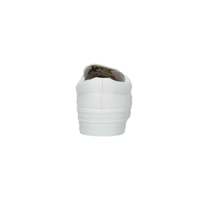 Bílé Slip-on na široké podešvi bata, bílá, 529-1631 - 17