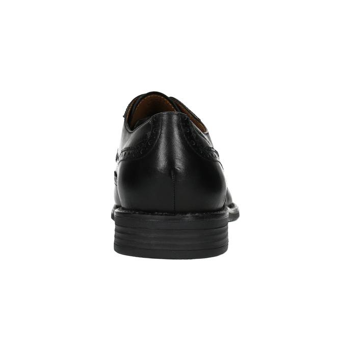 Kožené polobotky s Brogue zdobením vagabond, černá, 824-6006 - 17