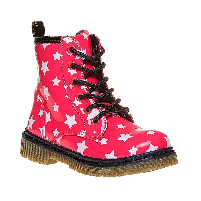 Dětská kotníčková obuv s hvězdičkami mini-b, růžová, 291-5159 - 13