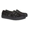 Dětská flitrovaná slip-on obuv mini-b, černá, 329-6229 - 26