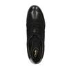 Kožené polobotky na klínovém podpatku clarks, černá, 643-6001 - 19