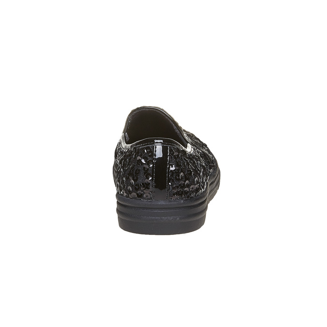 Dětská flitrovaná slip-on obuv mini-b, černá, 329-6229 - 17