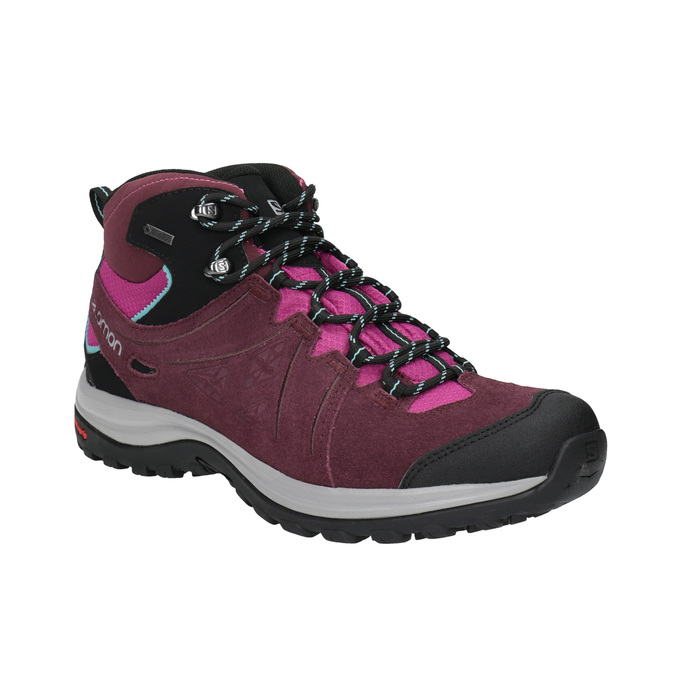Dámská kožená obuv v Outdoor stylu salomon, fialová, 643-5051 - 13