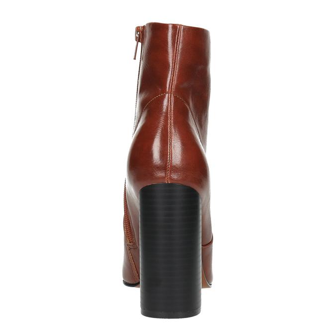 Kotníčková obuv na širokém podpatku bata, hnědá, 791-4611 - 17