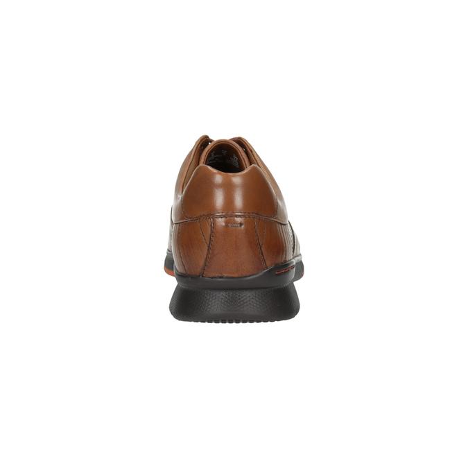 Ležérní kožené polobotky clarks, hnědá, 824-3002 - 17