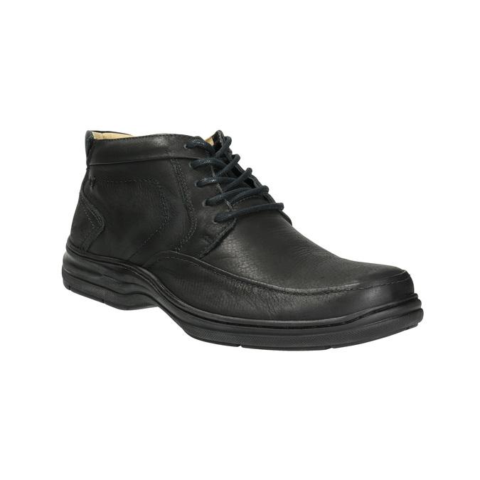 Kožená kotníčková obuv pánská comfit, černá, 824-6718 - 13