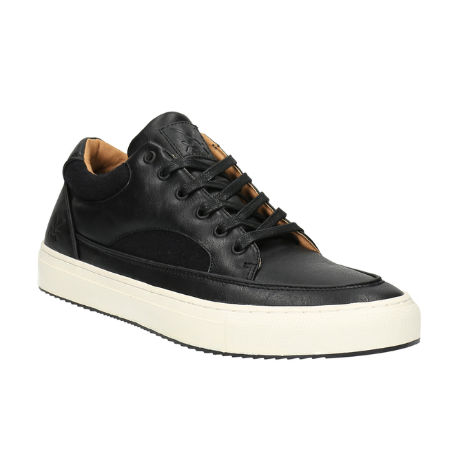 Pánské tenisky na široké podešvi bata, černá, 841-6605 - 13