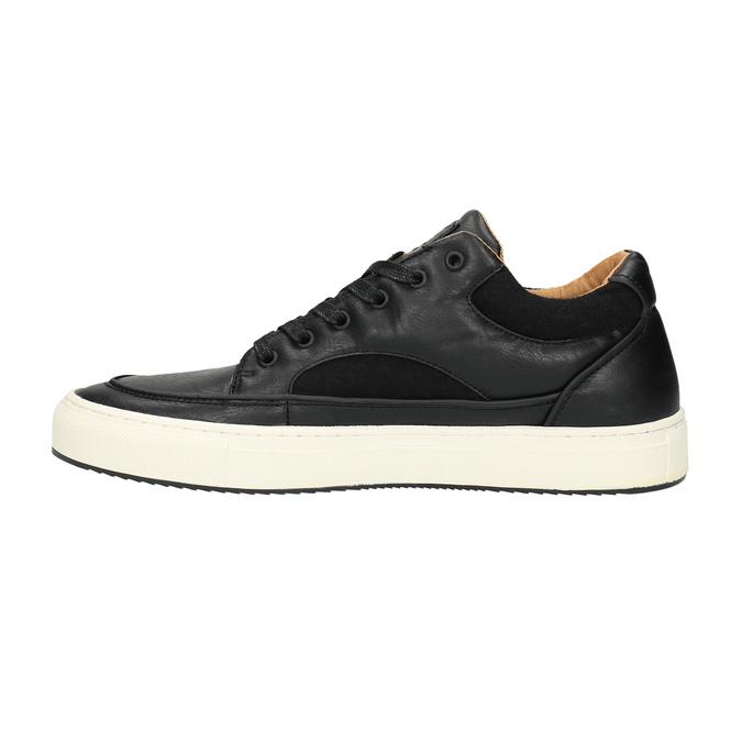 Pánské tenisky na široké podešvi bata, černá, 841-6605 - 26