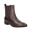 Kožená kotníčková obuv s pružením geox, červená, 514-5030 - 13