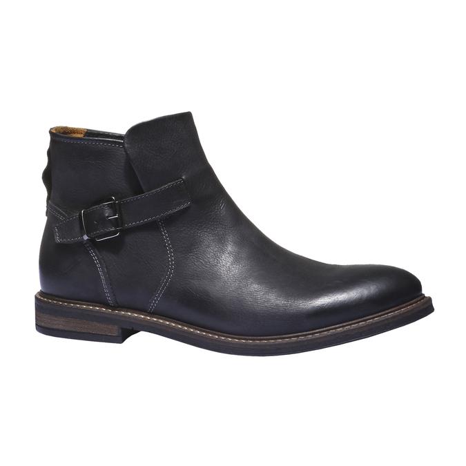 Kožená kotníčková obuv bata, černá, 894-6107 - 13