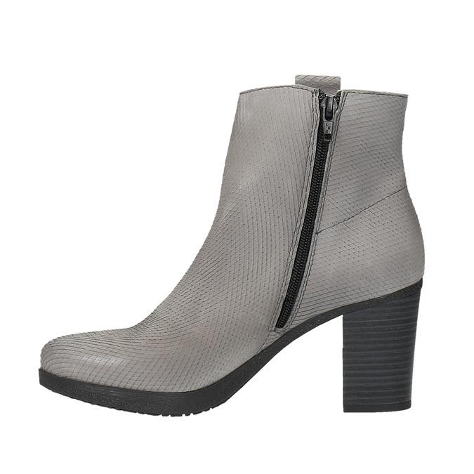 Dámská kotníčková obuv bata, šedá, 796-2607 - 26