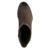 Kožená kotníčková obuv na masivním podpatku bata, hnědá, 696-4612 - 19