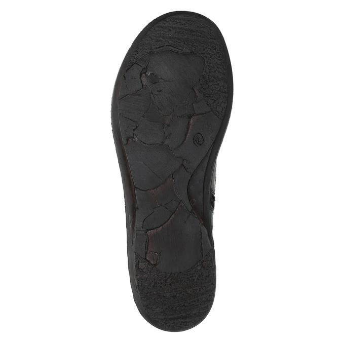 Dámská kožená obuv se zateplením bata, červená, 596-5624 - 26