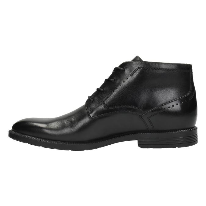 Kožená kotníčková obuv rockport, černá, 824-6025 - 26
