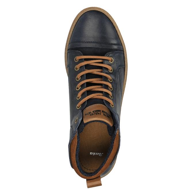 Kožené kotníčkové tenisky pánské bata, modrá, 846-9606 - 19