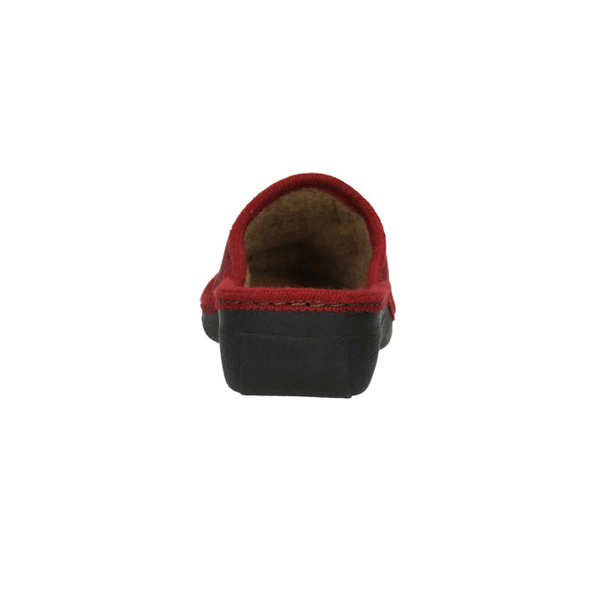 Dámská domácí obuv bata, červená, 579-5348 - 17