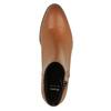 Kožená kotníčková obuv se zipem bata, hnědá, 594-3518 - 19