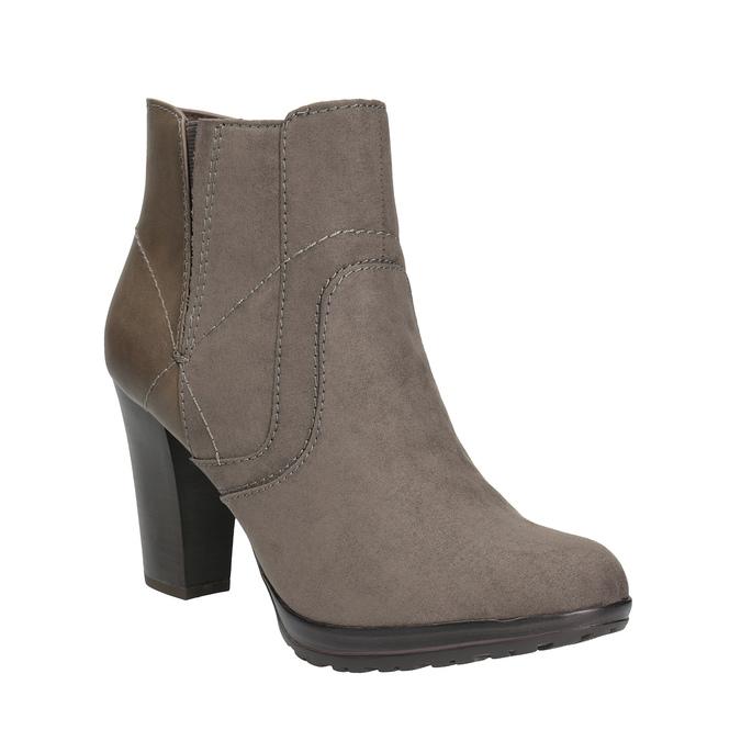 Kotníčková obuv na podpatku bata, šedá, 791-2602 - 13