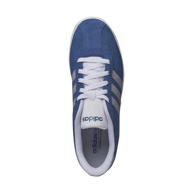 Pánské kožené tenisky adidas, modrá, 803-9132 - 19