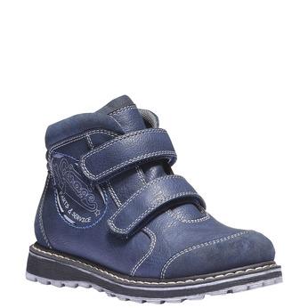 Dětská kotníčková obuv na suché zipy mini-b, modrá, 311-9101 - 13