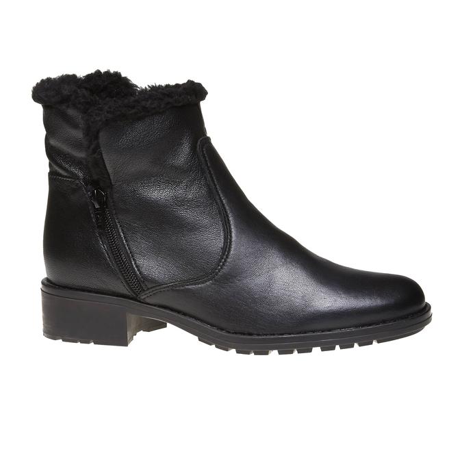 Genie - kotníčková obuv s kožíškem bata, černá, 594-6506 - 13
