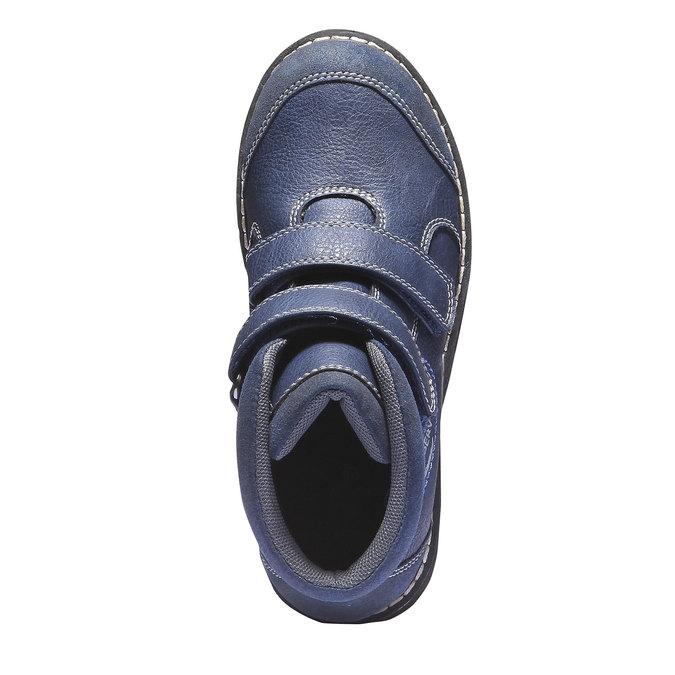 Dětská kotníčková obuv na suché zipy mini-b, modrá, 311-9101 - 19