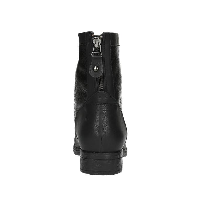 Dámská kotníčková obuv bata, černá, 591-6609 - 17