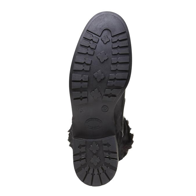 Genie - kotníčková obuv s kožíškem bata, černá, 594-6506 - 18