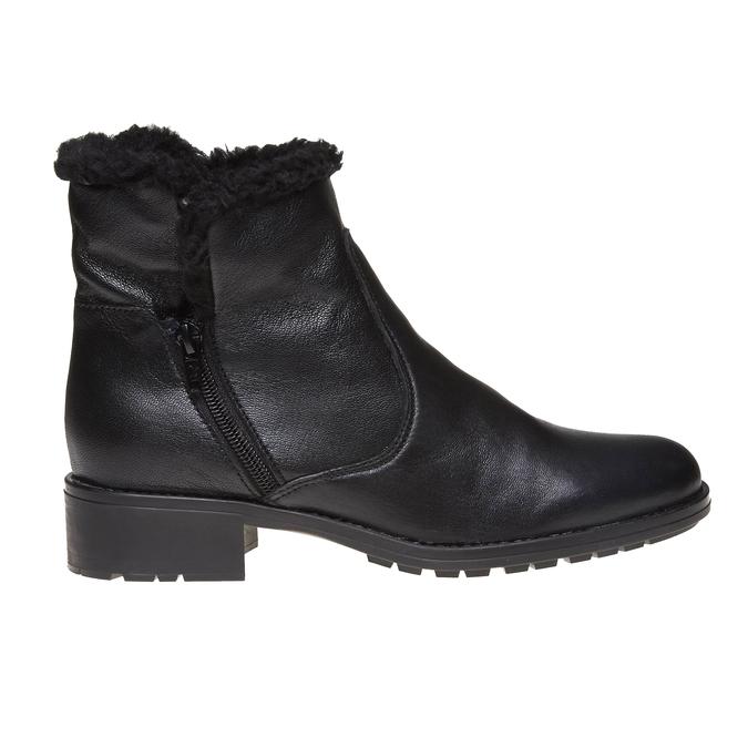 Genie - kotníčková obuv s kožíškem bata, černá, 594-6506 - 26