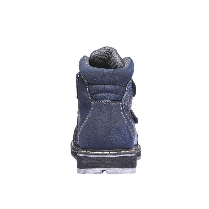 Dětská kotníčková obuv na suché zipy mini-b, modrá, 311-9101 - 17