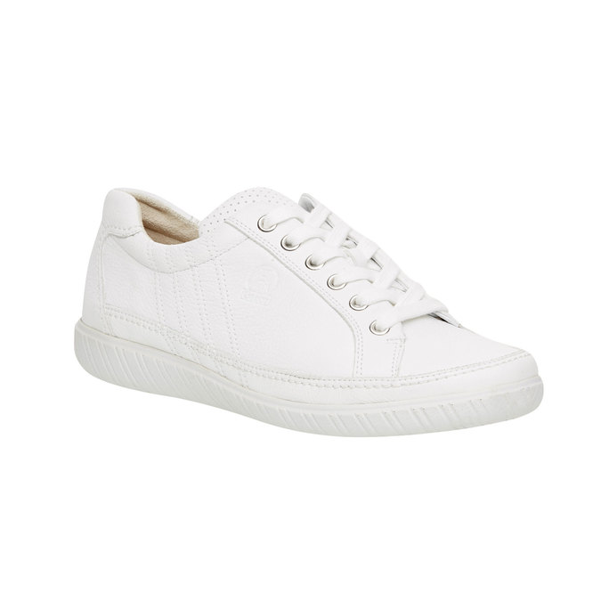 Bílé kožené tenisky gabor, bílá, 544-1102 - 13