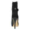 Kožené kotníčkové kozačky na jehlovém podpatku bata, černá, 794-6630 - 17