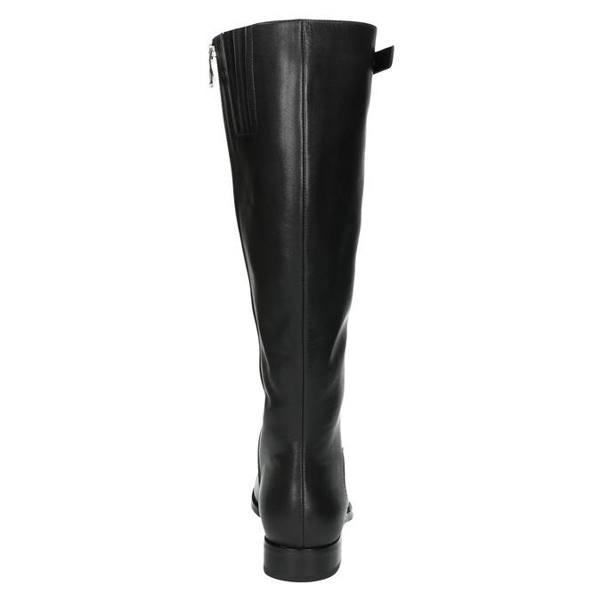 Dámské kožené kozačky se sponou bata, černá, 596-6630 - 17