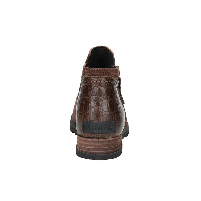 Kožená kotníčková obuv sorel, hnědá, 513-4002 - 17