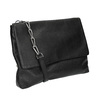 Menší kožená kabelka s řetízkem vagabond, černá, 964-6005 - 13