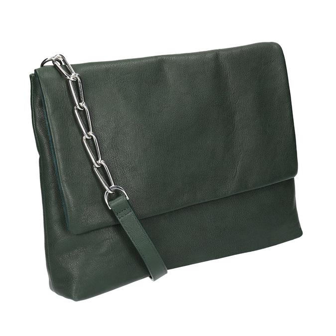 Menší kožená kabelka s řetízkem vagabond, zelená, 964-7005 - 13