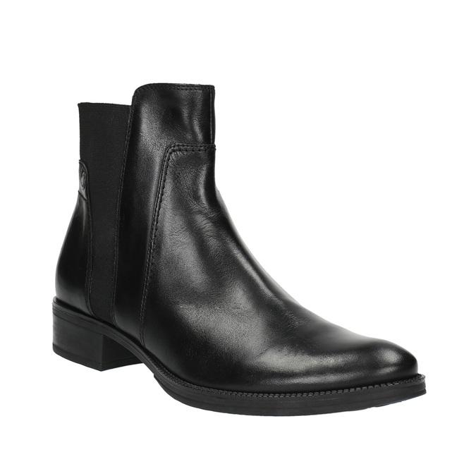 Kožená kotníčková obuv s pružením geox, černá, 514-6031 - 13