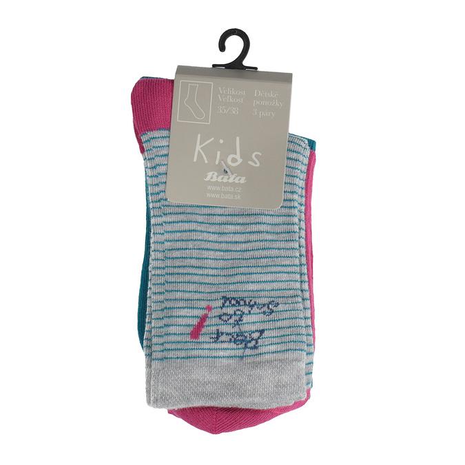 Dětské barevné ponožky 3 páry bata, 919-0498 - 13