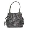 Dámská kabelka s květinovým vzorem gabor-bags, šedá, 961-2008 - 26