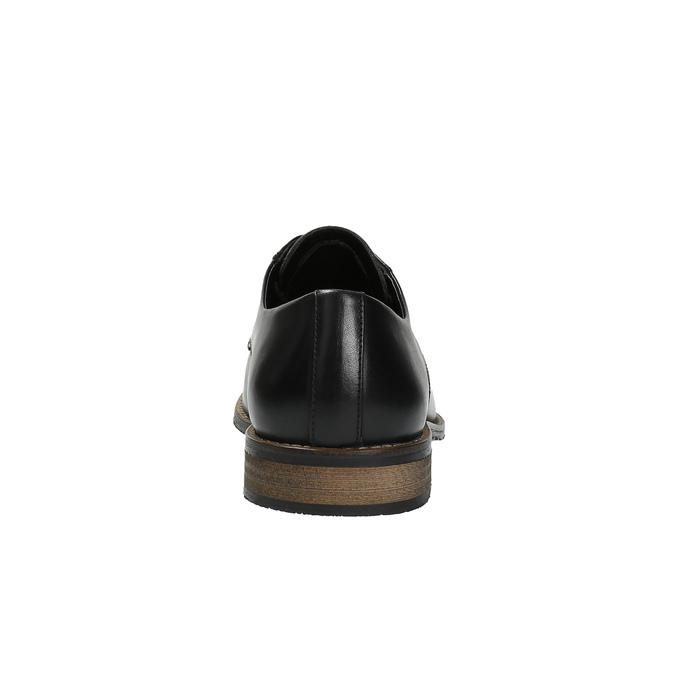 Ležérní kožené polobotky bata, černá, 824-6678 - 17